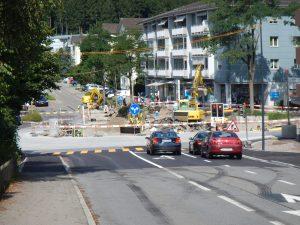 Effretikon, Kreisel, Bahnhofstrasse