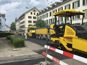 Zürich, Belagsunterhalt Zeltweg